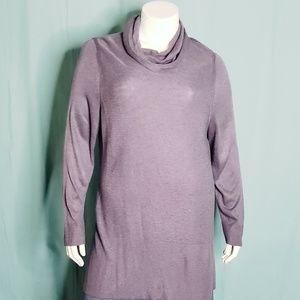 Adrienne Vittadini Lavendar  Sweater Tunic size 2X